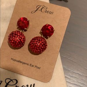 J.Crew NWT Pave Resin earrings